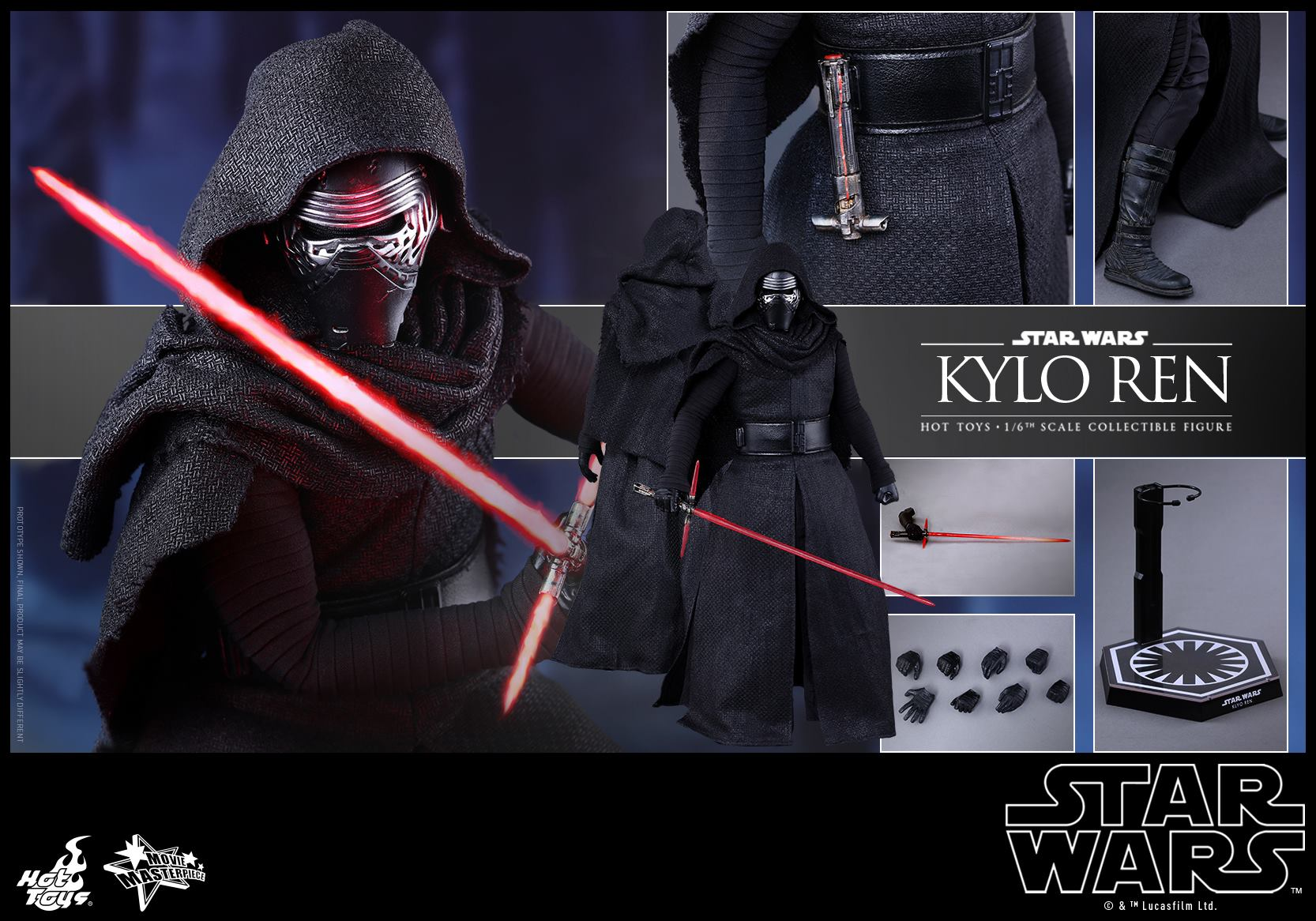 HOT TOYS - Star Wars: TFA - Kylo Ren 960691115