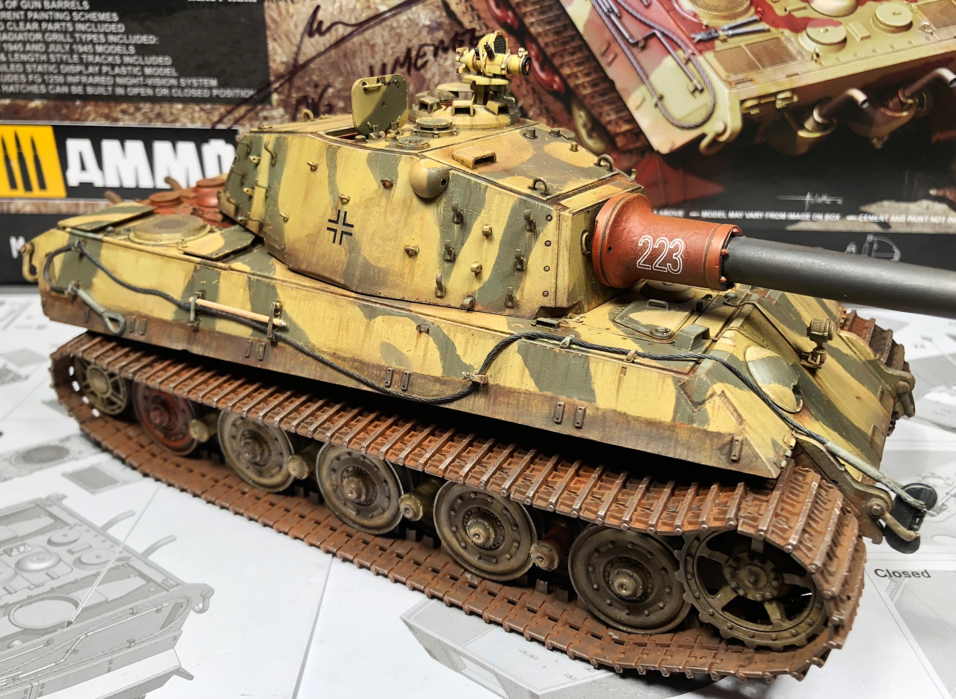 "King Tiger Ammo ""What If"" 963101Weathering3RightC"