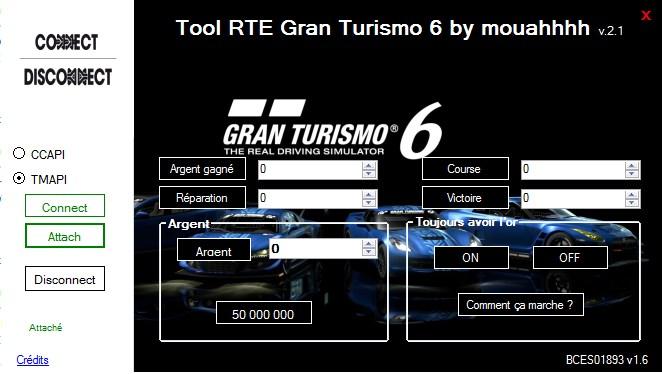 (RELEASE) Tool RTE Gran Turismo 6 v2.1 (CEX-DEX) par Mouahhhh 967918Screenshot1tool16