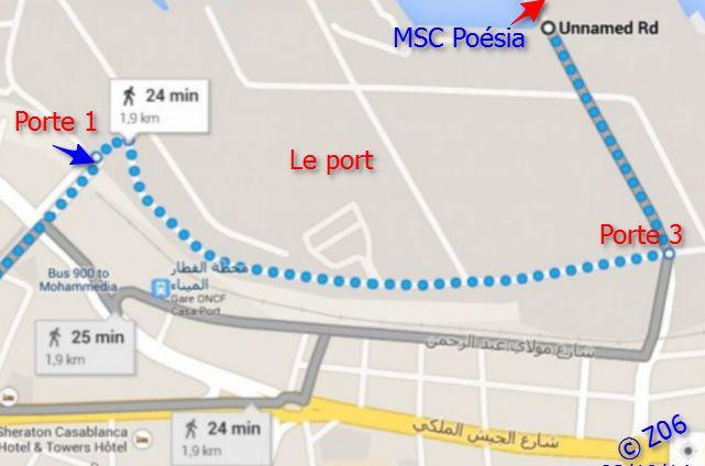 Z06 / C/R MSC.... Poesia 21/10 au 30/10 2014   Gêne Malaga Casablanca Lisbonne Barcelone Marseille 971191planCAsaapied