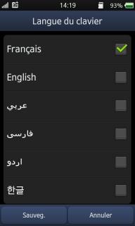 clavier arabe pour htc hd2
