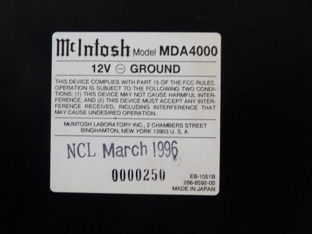 McIntosh MX4000, l'Excellence.... 981605P1080049