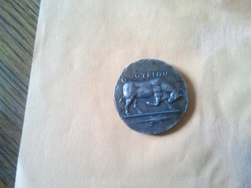 Monnaie grecque didrachme Lucanie Thurium taureau 98168620120429140428