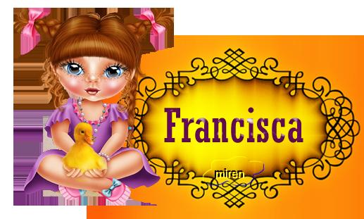Nombres con F - Página 3 9830001Francisca