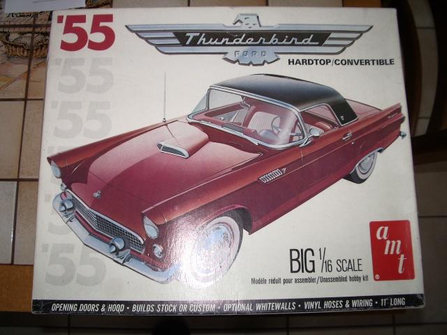 ford thunderbird 1955 au 1/16 de chez amt  984018180