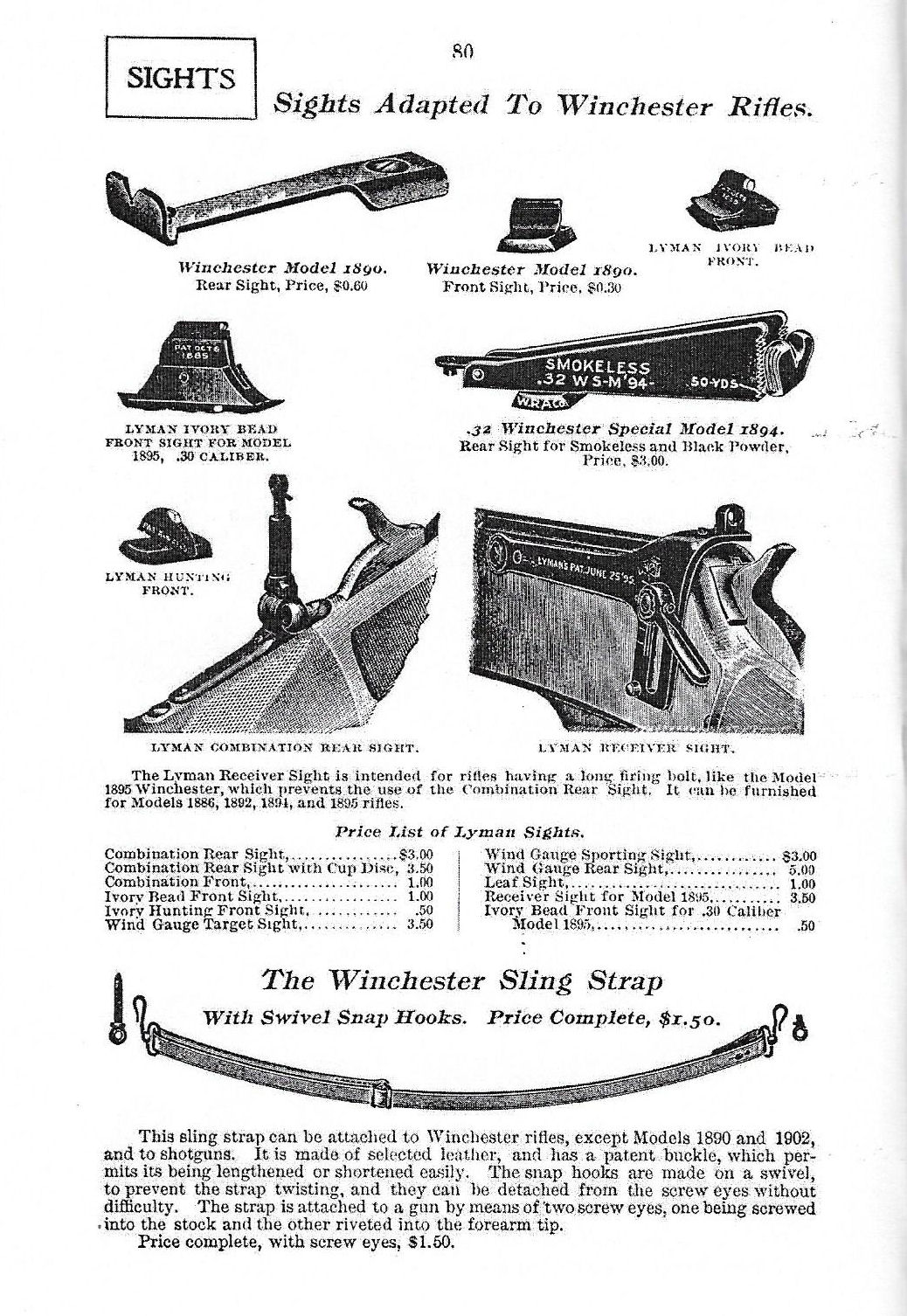 Hausse winchester M 94 986171Winchestercatalogue1905Hausse64A32WS