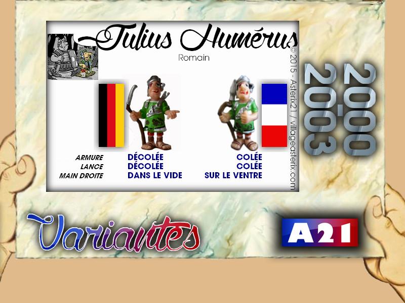 Astérix® les Variantes d'Hier et d'Aujourd'hui [Le Catalogue] 989192MarbreVariantesKinder20002003JuliusHumrus