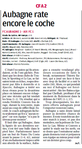 FC AUBAGNE // CFA2 GROUPE SUD EST  G - Page 22 990034885