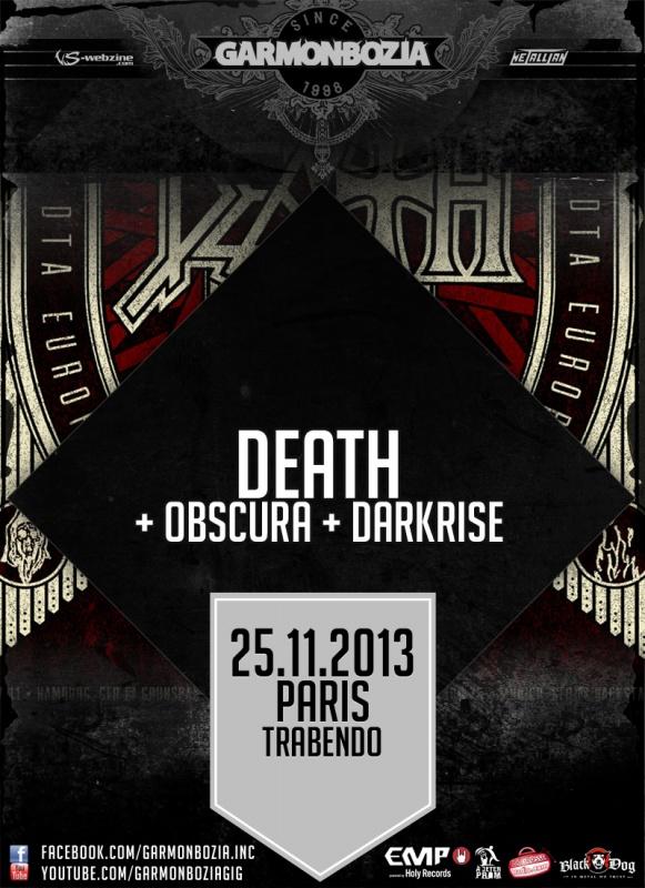 25.11 - Death-DTA + Obscura + .. @ Paris 99538520131125DeathParis