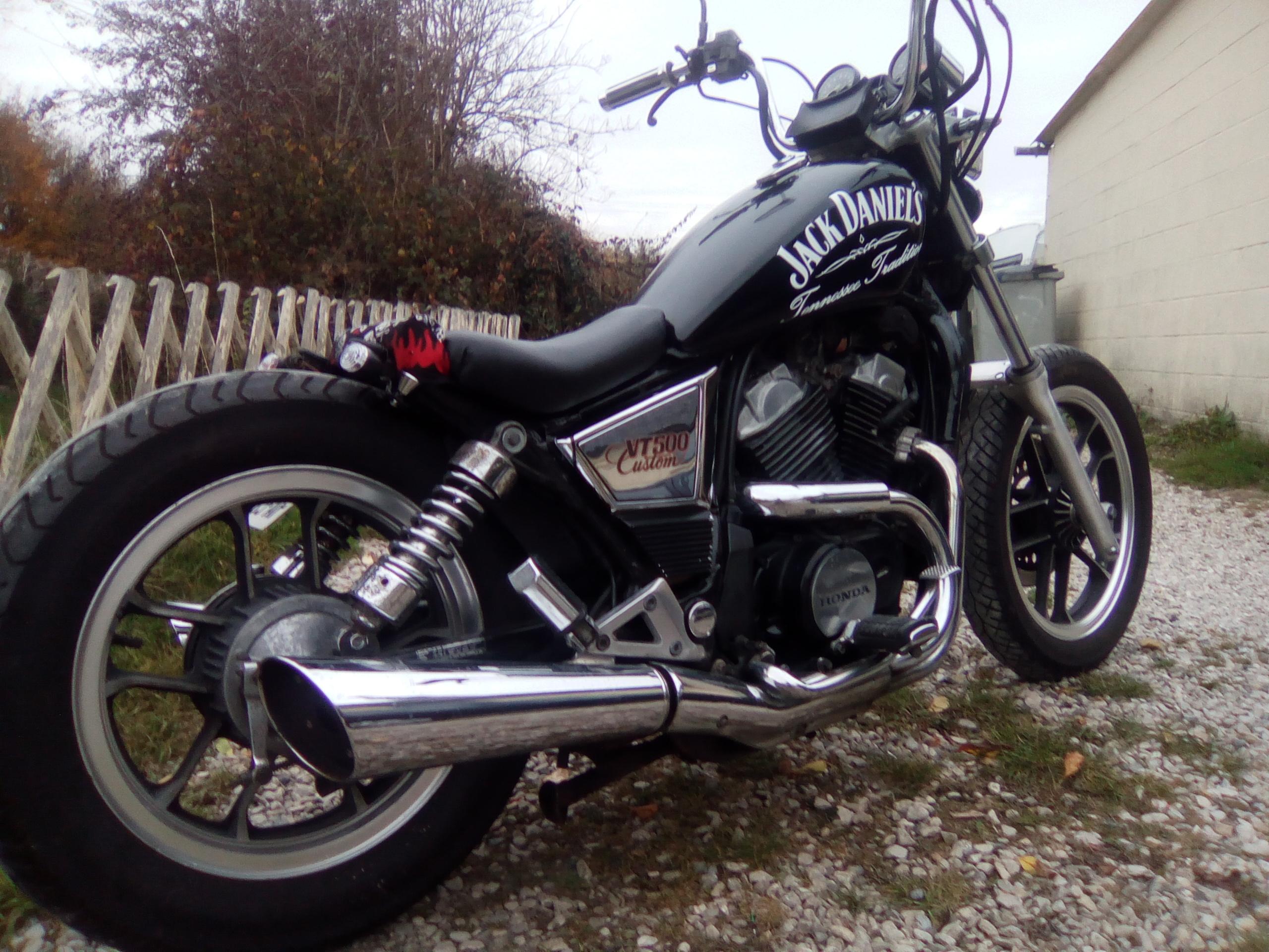 vt500c  transformation  en bobber, mes motos Deauville, Shadow 600 998674IMG20161104163911