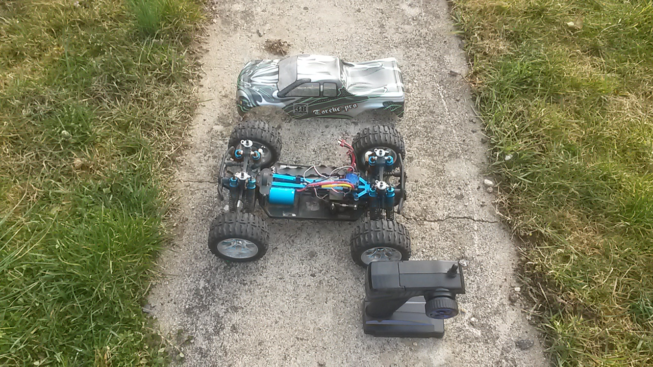Vente monster truck torche pro 1/10 (strada MT évolué,brushless) 99964420160313084926