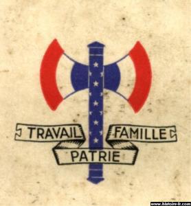 Insigne Travail Famille Patrie de Vichy Mini_155426francisquevichy