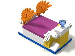 [MOC] Boîte de présentation Moi et mon dragon, en mini-maison de campagne Mini_299403boite05maison01Lit01
