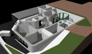 """Challenge thème : """"modélisation et rendu d'une maison atypique"""" - Silk37 & SB - ArchiCAD 17 - 3DS/V-Ray - Photoshop Mini_595417OLSHouseRezdechaussevue1"""