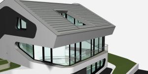 """Challenge thème : """"modélisation et rendu d'une maison atypique"""" - Silk37 & SB - ArchiCAD 17 - 3DS/V-Ray - Photoshop Mini_701256OLSHouseFaadenordvue4"""