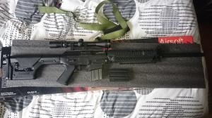 [Vente]SIG 556 DMR / M14 TM / Poches Et Veste Tactique Od / Lunette Ess / Acog + Lunette/M14 We gbbr Mini_708132DSC0626