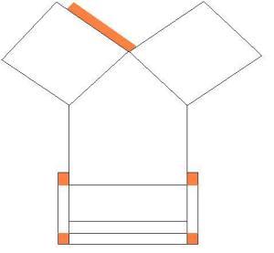 Patron d'une maisonnette en carton Mini_740885patron