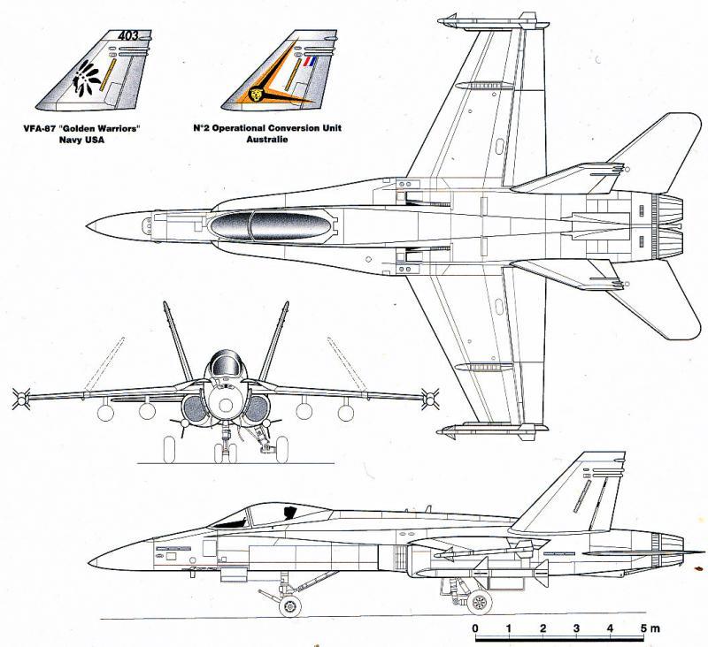 BOEING F/A-18E et F SUPER HORNET  116186McDonnellDouglasF18C1