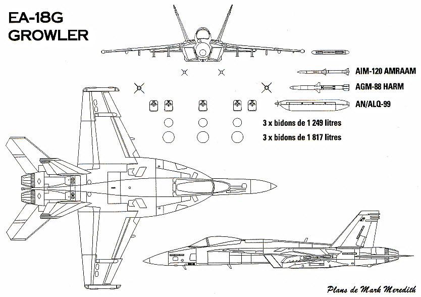 BOEING F/A-18E et F SUPER HORNET  118120BoeingEA18Growler1