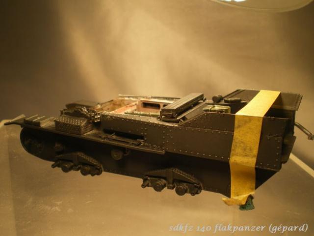 sd.kfz 140 flakpanzer (gépard) maquette Tristar 1/35 127999IMGP3085
