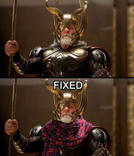 Pourquoi Odin de Meulin porte-til toujours une écharpe ? 128017Odinfixed