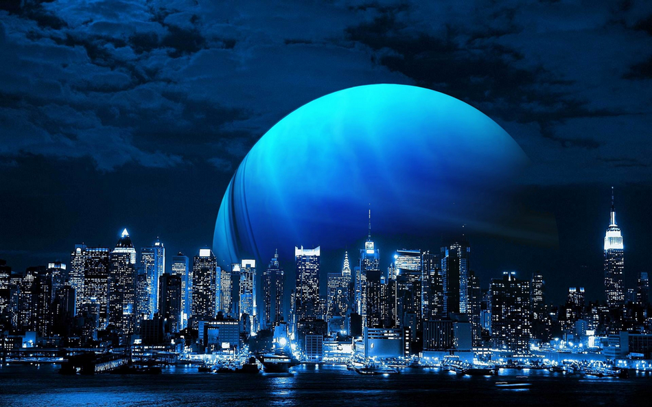 Blue Moon City... By Night