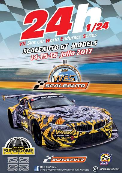 VII 24h WES Scaleauto GT Models 1/24 136682WES2017