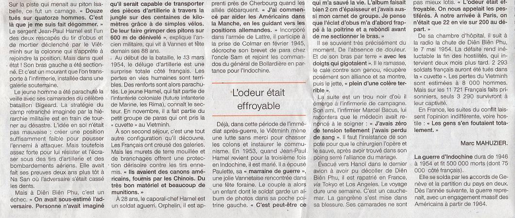 Ouest-France Dien Bien Phu Témoignage de Jean Paul HAMEL 137256img882Copie