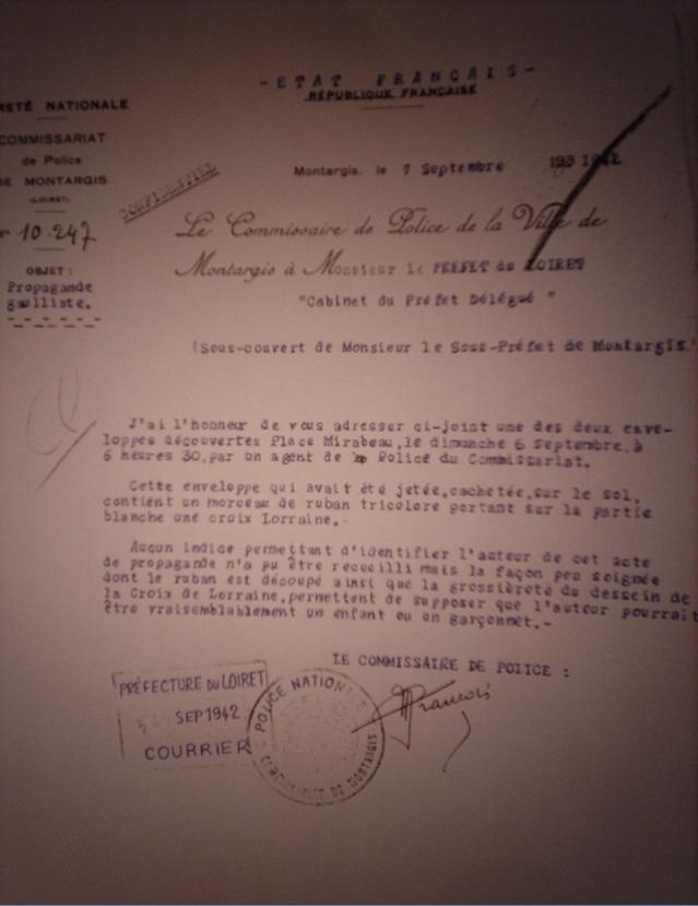 tracts et réaction des autorités de VICHY 1417095