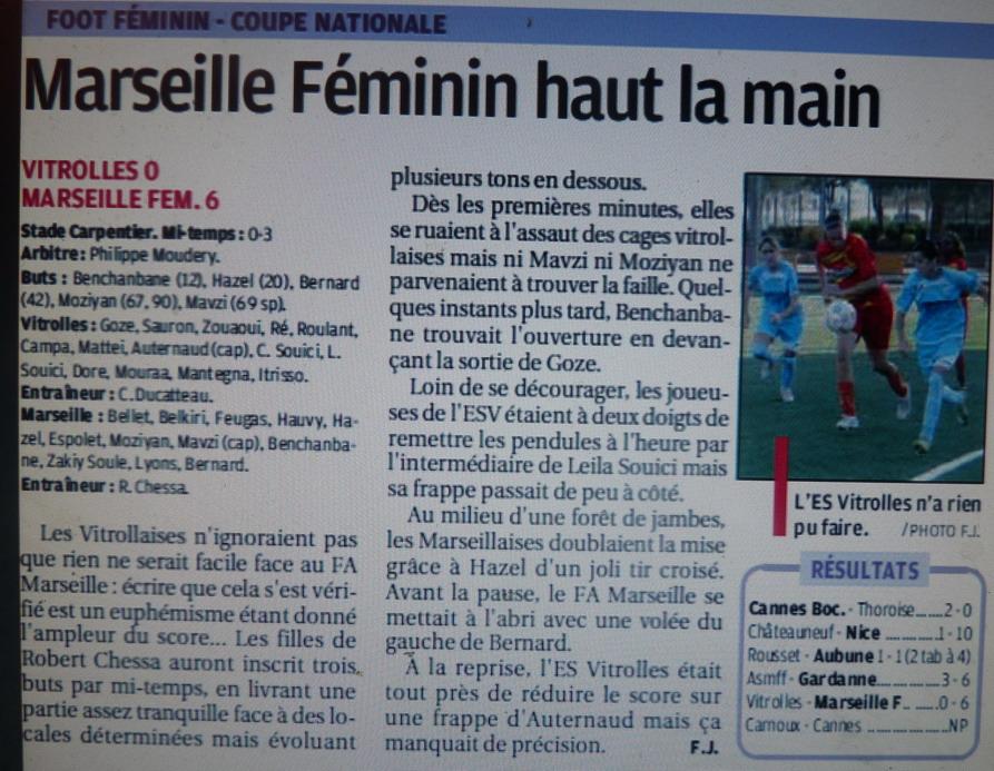 ● FA MARSEILLE FEMININ  143243P1240464