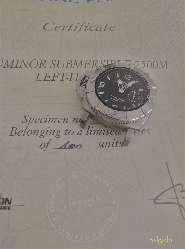 Revue Panerai Luminor 1950 Submersible 2500 Destro 358 SL 146372IMG1466