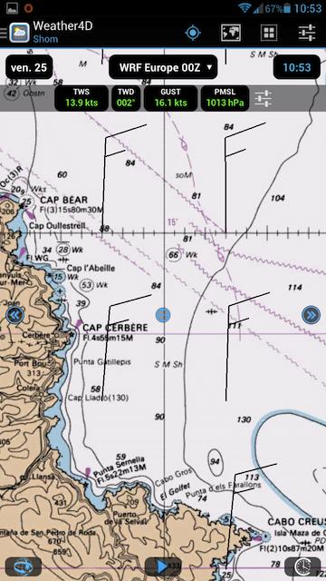 De vrais cartes marines sur Weather4D 147909Screenshot20140725105329