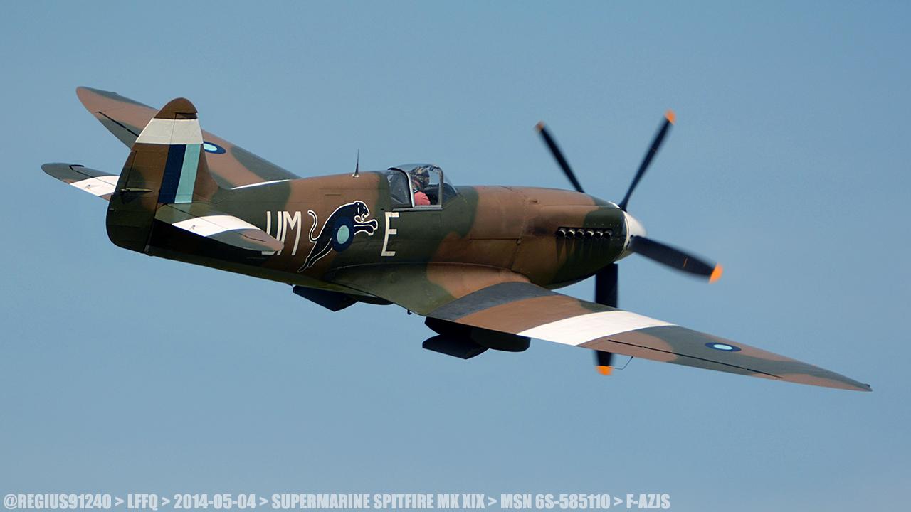 Spitfire MK XIX 150087LFFQ20140504SUPERMARINESPITFIREMKXIXMSN6S585110FAZJS2