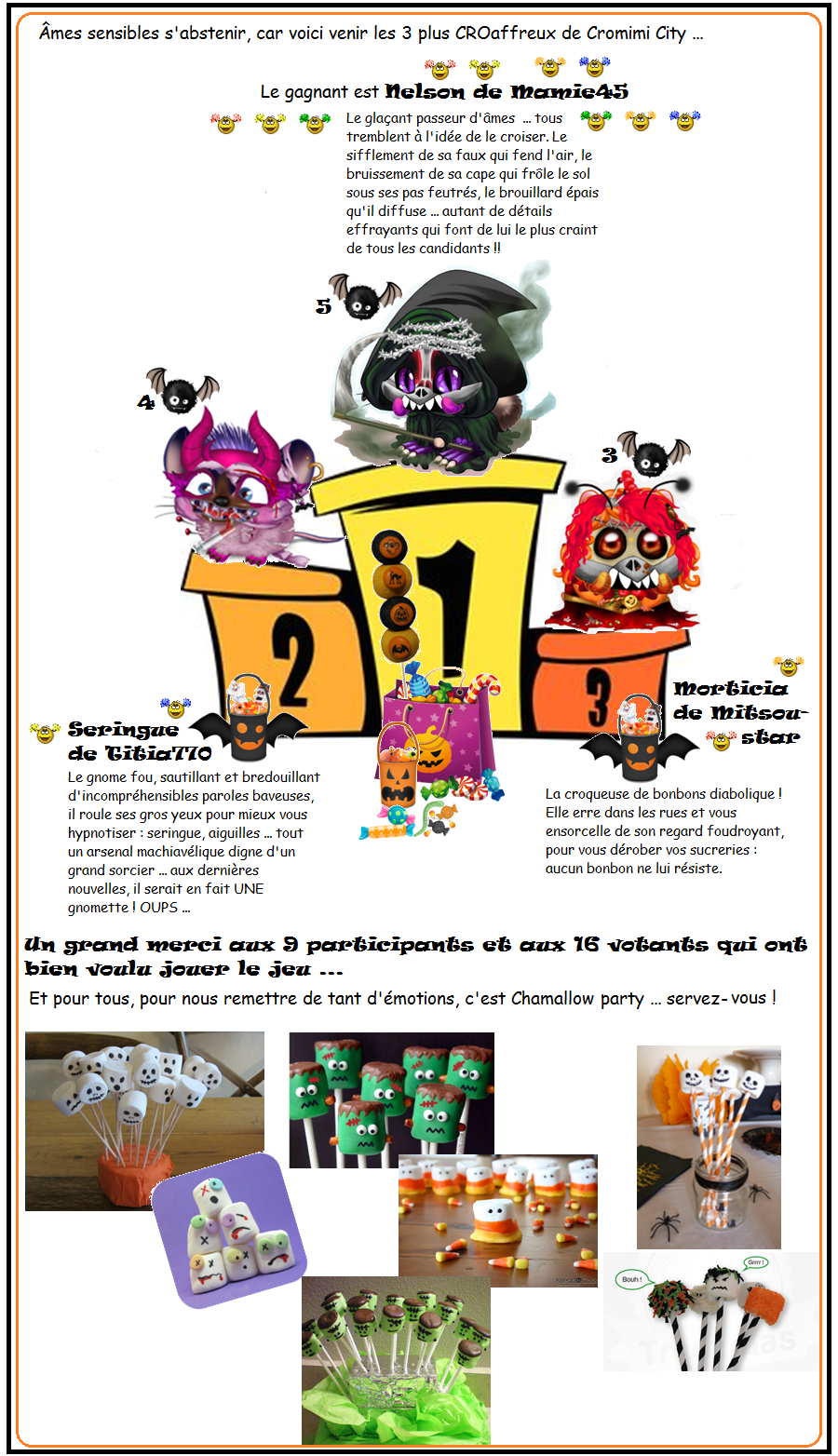 Concours : modalités d'organisation - Page 2 159070podiumhalloween