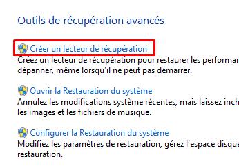 créer un disque de récupération système 161821crunlecteurdercup811