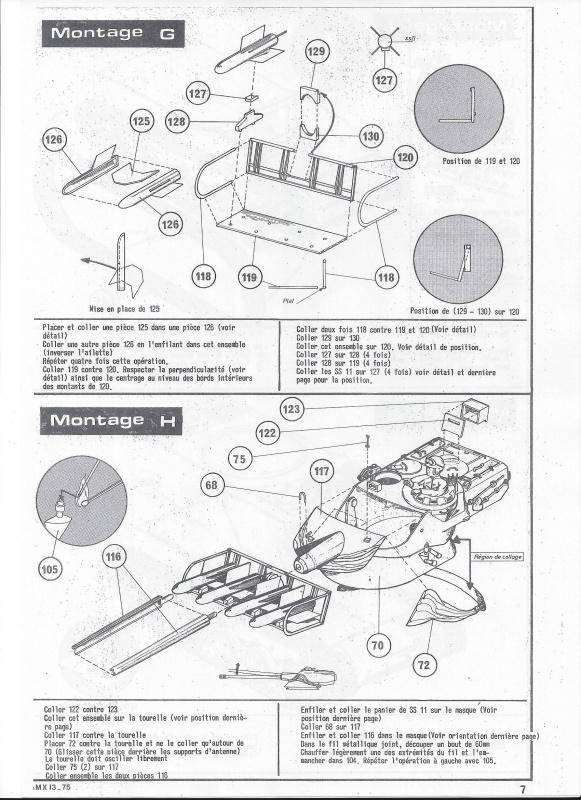 AMX 13 canon de 75 - (Réf. L784) 1/35 162019AMX1375784008Heller135