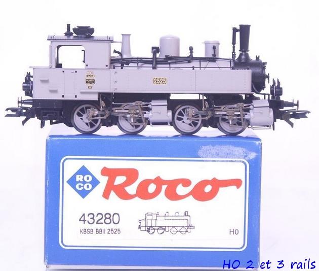 Les locomotives à vapeur articulées 165230Roco43280malletbavaroisegrisen2525R