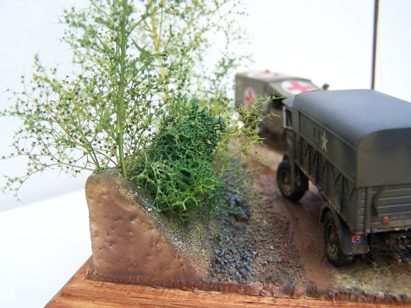 """AEC Matador et Ambulance Austin K2 """"au détour d un chemin"""" 165710MatadorAustinK2041"""