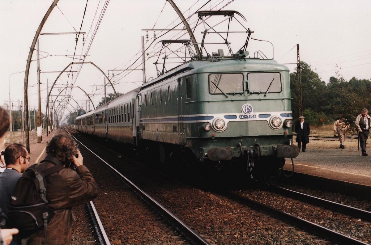 1999 - CC7107 train spécial IFC 2 octobre - Département des Landes 168184cc710719991002Labouheyre