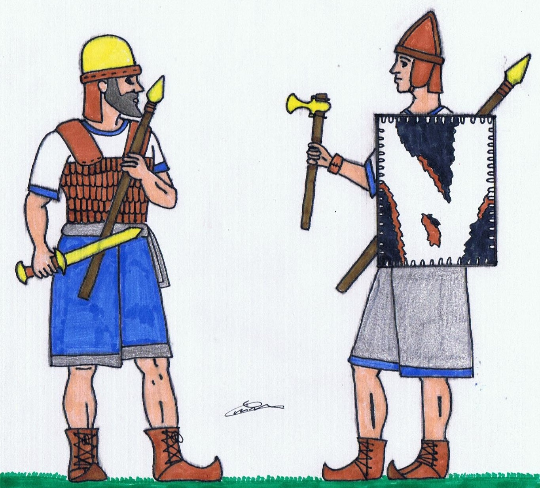 Reconstitution d'un soldat hittite 170714HugoCarpentier1
