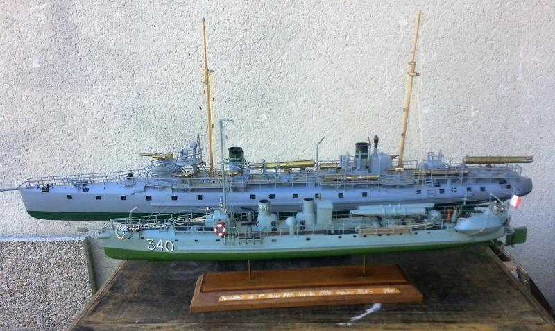 le contre torpilleur la Bombarde de 1903 et le torpilleur numéroté 340 de 1904 19017520160907135931