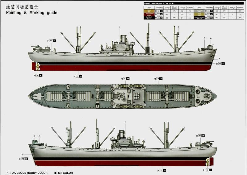 Le SS jeremiah o'brien liberty ship au 1/700 Trumpeter 194408SSjeremiahobrienlibertyship1