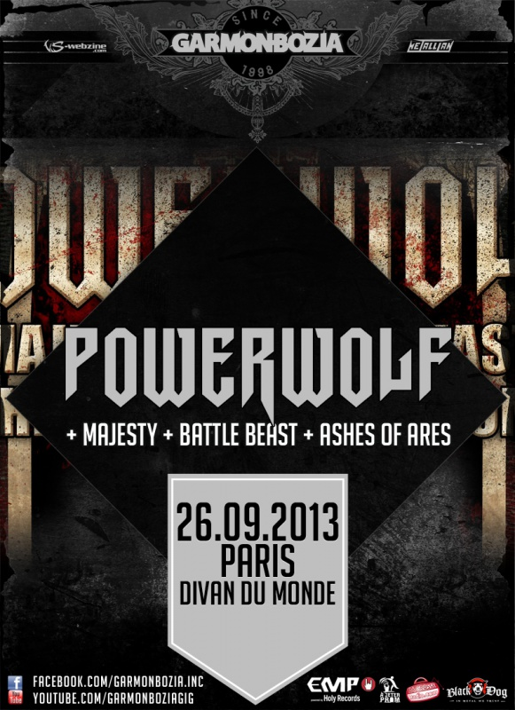 26.09 - Powerwolf + Majesty + ... @ Paris 19572420130926PowerwolfParis