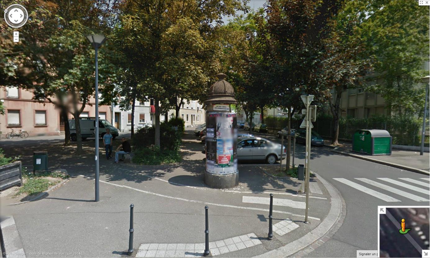 Les colonnes Morris en France 197449colonnemorrisMulhouse5