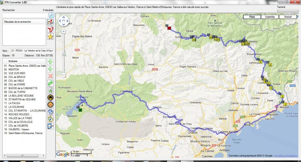 Préparation : LA ROUTE DES GRANDES ALPES - Sept 2013 198314LaCtedAzur340km