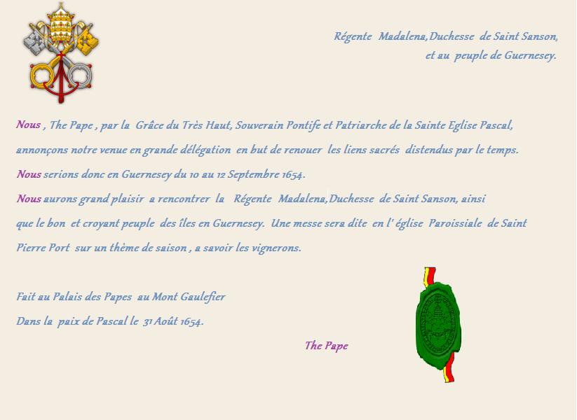 [RP] Eglise Paroissiale Pascale de Saint-Pierre-Port - Page 12 199956lettrethepape