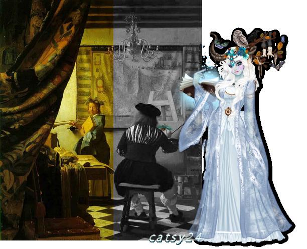 défi tableau N°8 : L'Art de la peinture - Johannes Vermeer 205432tableau8090916