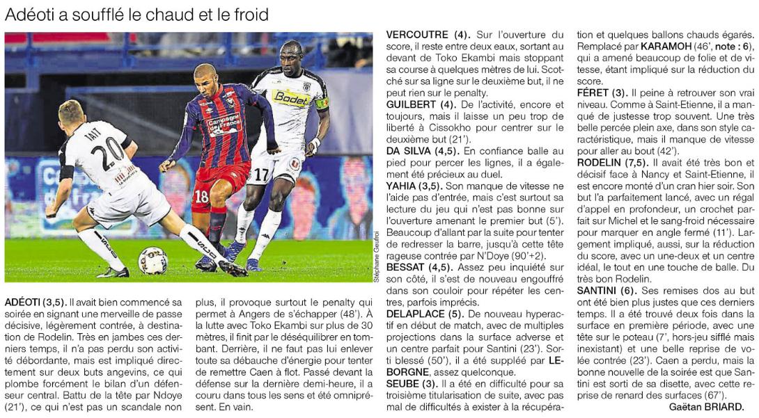 [28e journée de L1] SM Caen 2-3 Angers SCO 211019sco