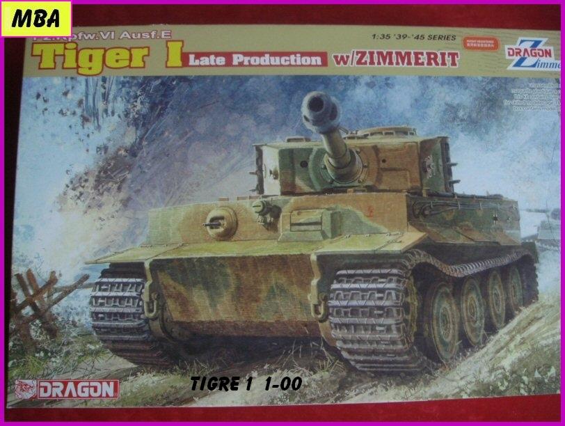 Panzerkampfwagen VI Tiger au 1/35ème Dragon Zimmerit 212885tigre100