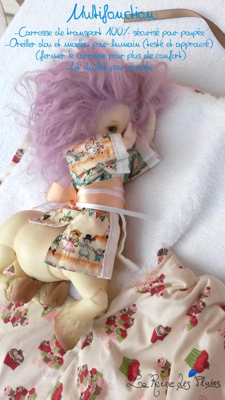 La Reine des Pluies: Carrosses pour dolls:tissus little doll 218795lit
